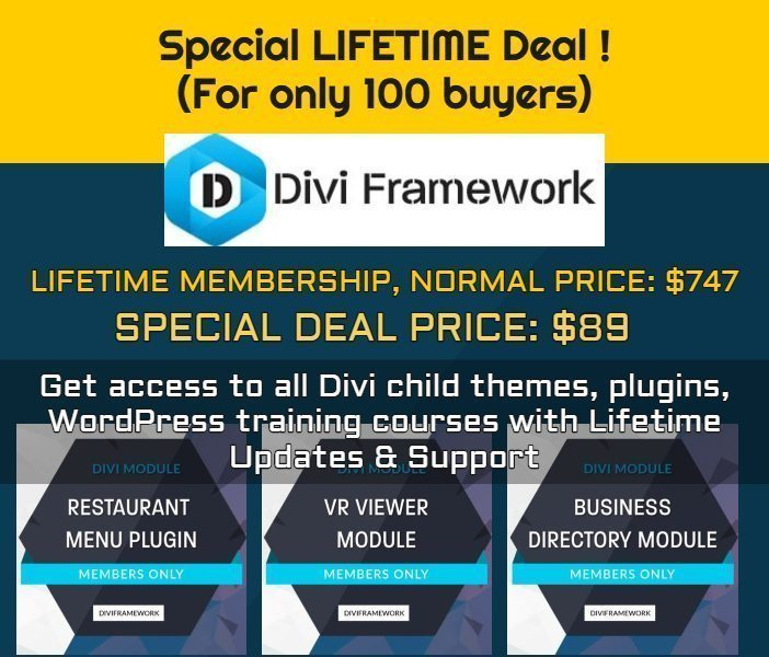Lifetime Access to Divi Framework - Deal Expired