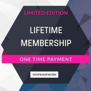 Divi Framework Special Lifetime Deal
