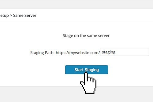 WP Time Capsule One Click Staging Feature