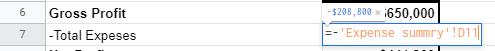 Expense calculation using Google Sheets