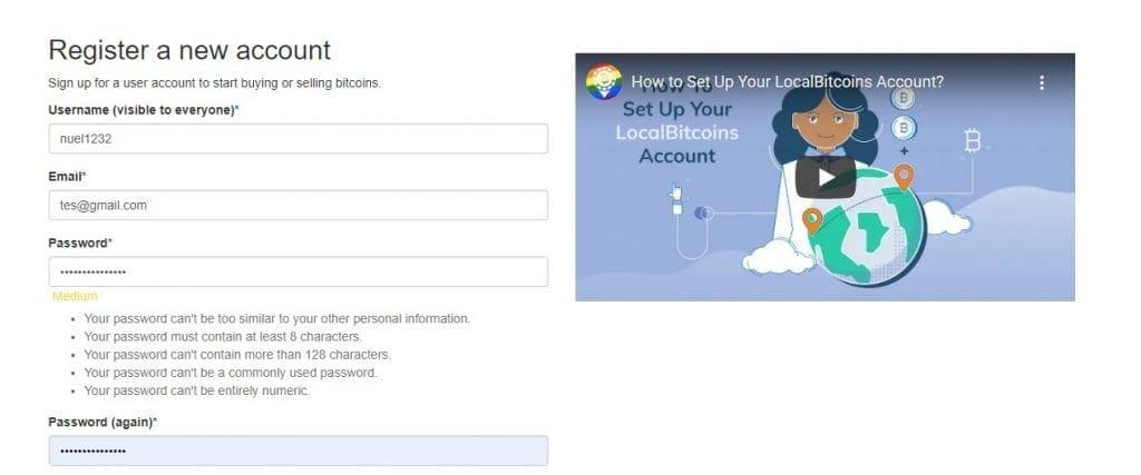Create an account at localbitcoin.com