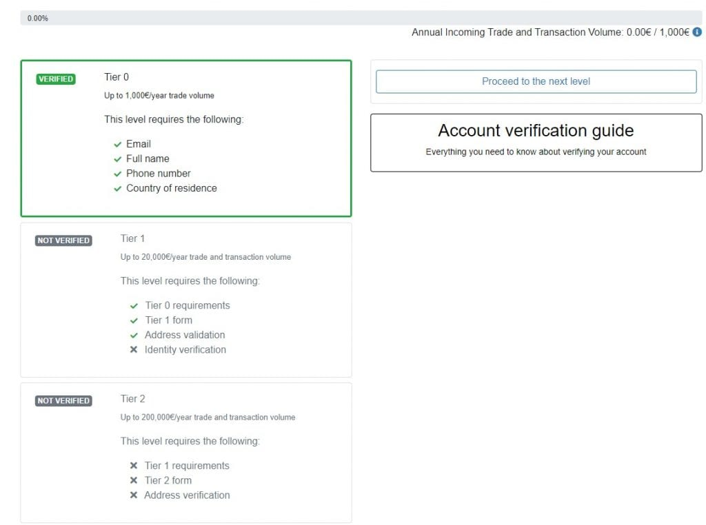 Submit Proof Of Identity at localbitcoin.com